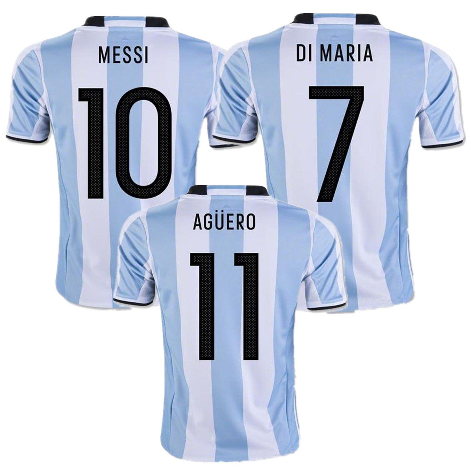ef6c1d64372 ... Wholesale 2017 Argentina Soccer Jerseys Messi Di Maria Kun Aguero  Mascherano Perez Gago Argentina Jerseys Home ...