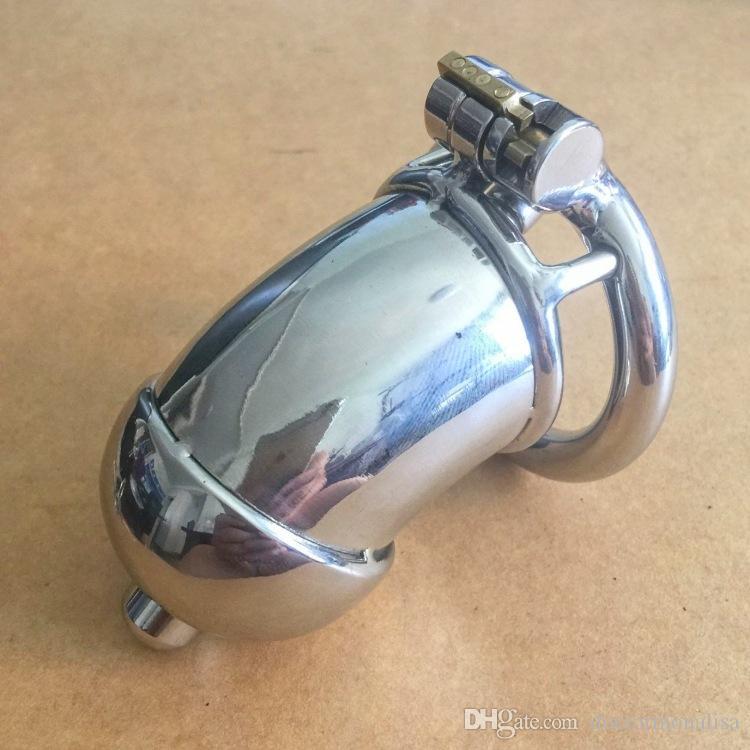 Medico Mona Lisa - maschile Lungo cilindrica Lid Chastity Cage dispositivo a nastro con catetere uretrale in acciaio inox chiuso Tubo BDSM Toys