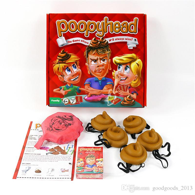 New card Game Poopyhead Board Game Parent-child Interactive Gadgets family party Game anti stress toys 2+players b1386