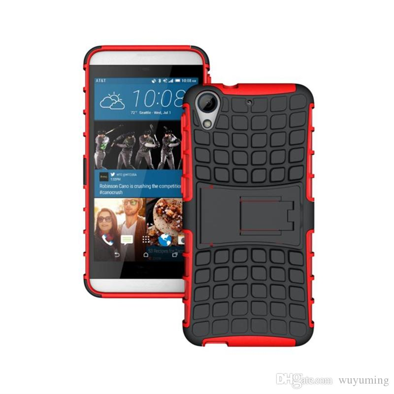 310b14807359 For HTC Desire 626 Case 626w 626d 626g Phone Case 2in1 Dual Layer Kickstand Heavy  Duty Armor Shockproof Hybrid Silicone Cover Case Customize Your Own Cell ...