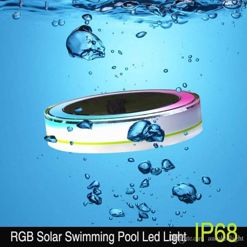 Großhandel Solaraußen LED Swimmingpool Beleuchtet RGBW Farbenreiches 24 LED  IP68, Das Für Swimmingpoollandschaftssolarlichter + Fernsteuerpult ...