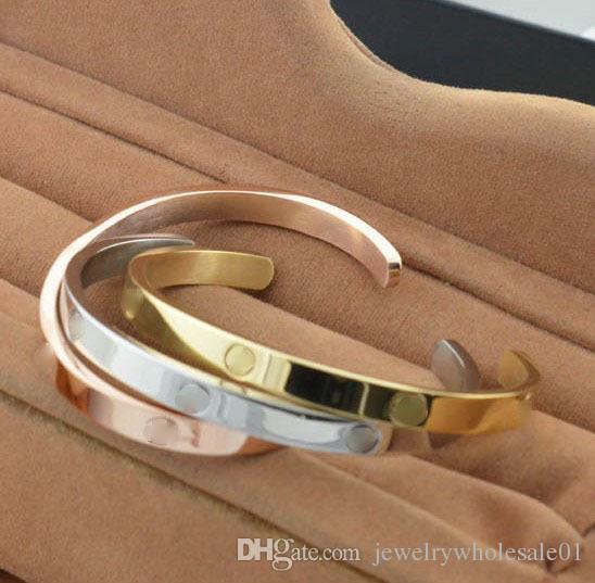 Factory outlets, foreign trade thread, open bracelet, lovers open bracelet, men and women drill, C Bracelet