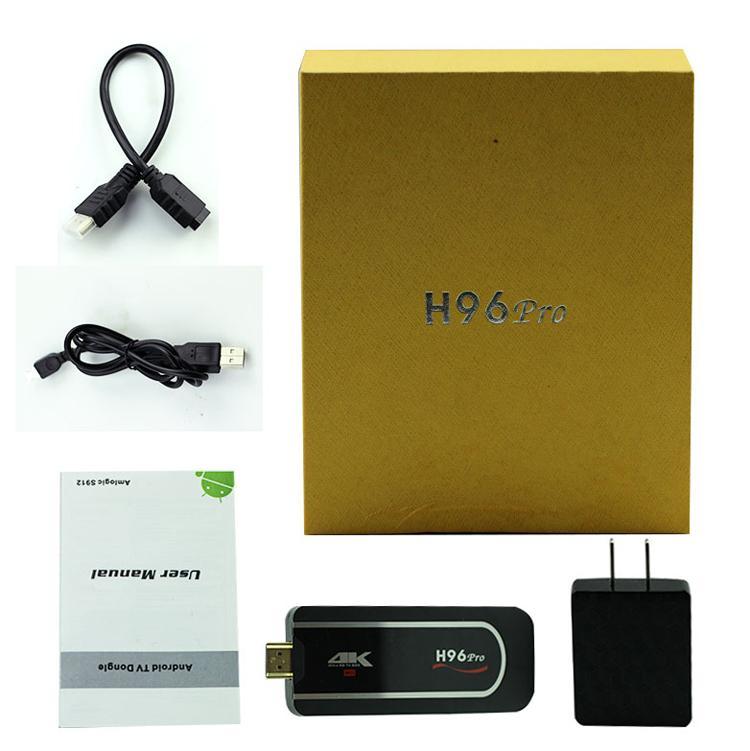 H96 pro Mini PC Amlogic S912 64bit Octa Core android 7.1 tv box 2G 8G Support 4K HDMI TV Stick Dongle Full HD