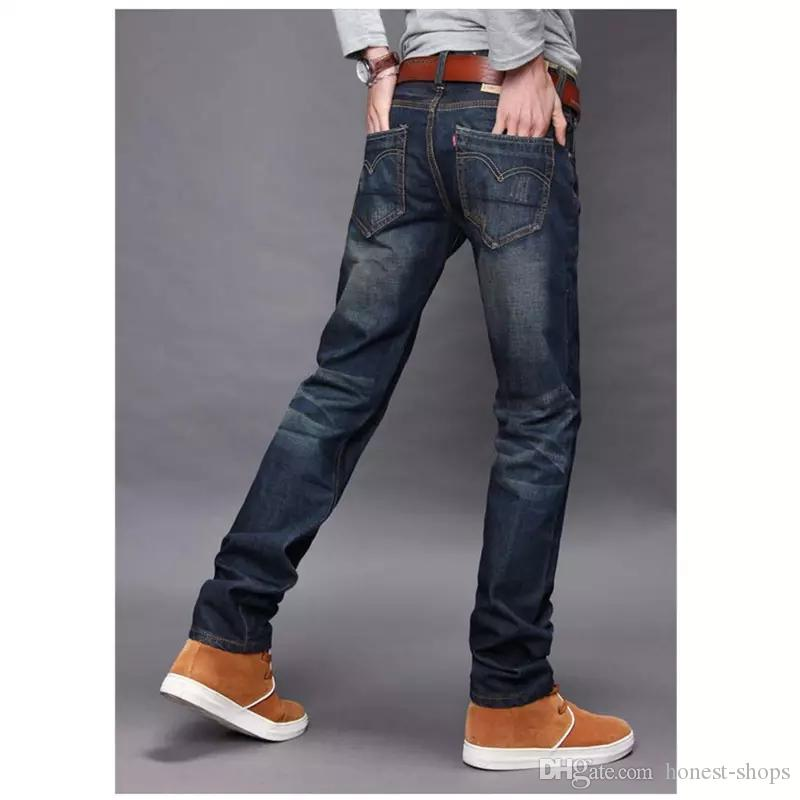 Fashion Mens Jean Skinny Jeans Denim Men s Jeans Trend Slim Small Trousers  Casual Pants Plus Size 28-38 Denim Jeans Men Online with  21.56 Piece on ... c82b2fb2d7