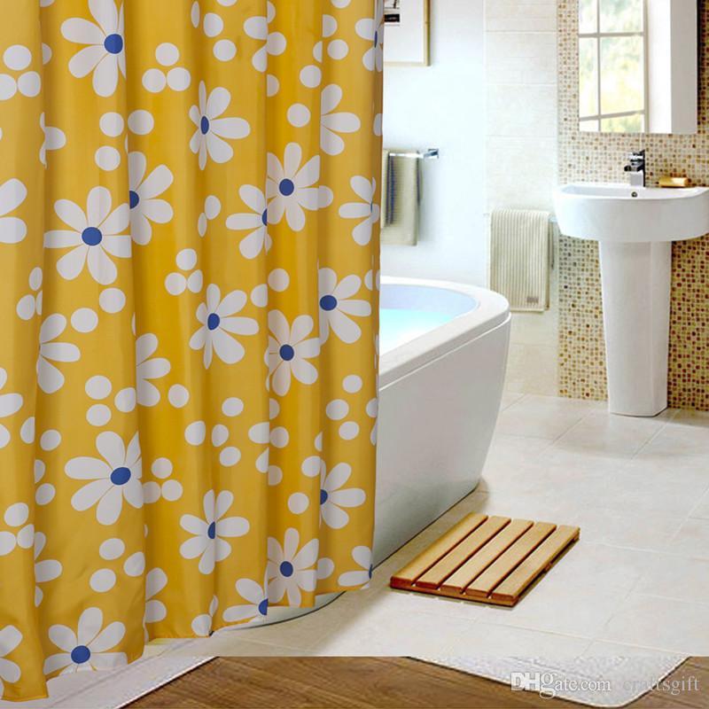 2017 sunflower shower curtains yellow bathroom curtain thicken