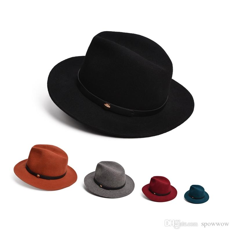 Unisex Mens Womens Wide Brim Crushable Wool Felt Brown Safari Hat Panama  Fedora Festival Cap T259 Fedora Hat Baseball Caps From Spowwow 7757d50ca0c