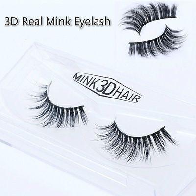 2f89152bf1c 3d Real Mink Lashes 100% Mink Thick Real Mink Lash False Eyelashes ...
