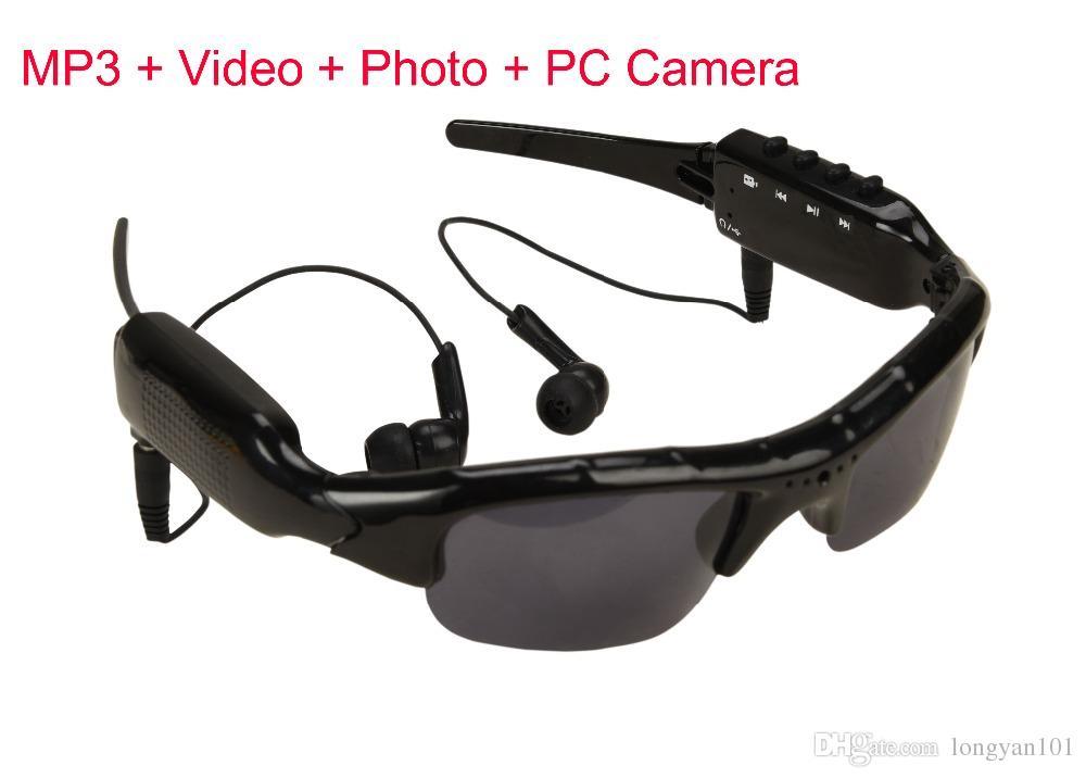 4cf5d4810e2 Smart Sunglasses Camera Eyewear Music Glasses Support TF Card Video ...