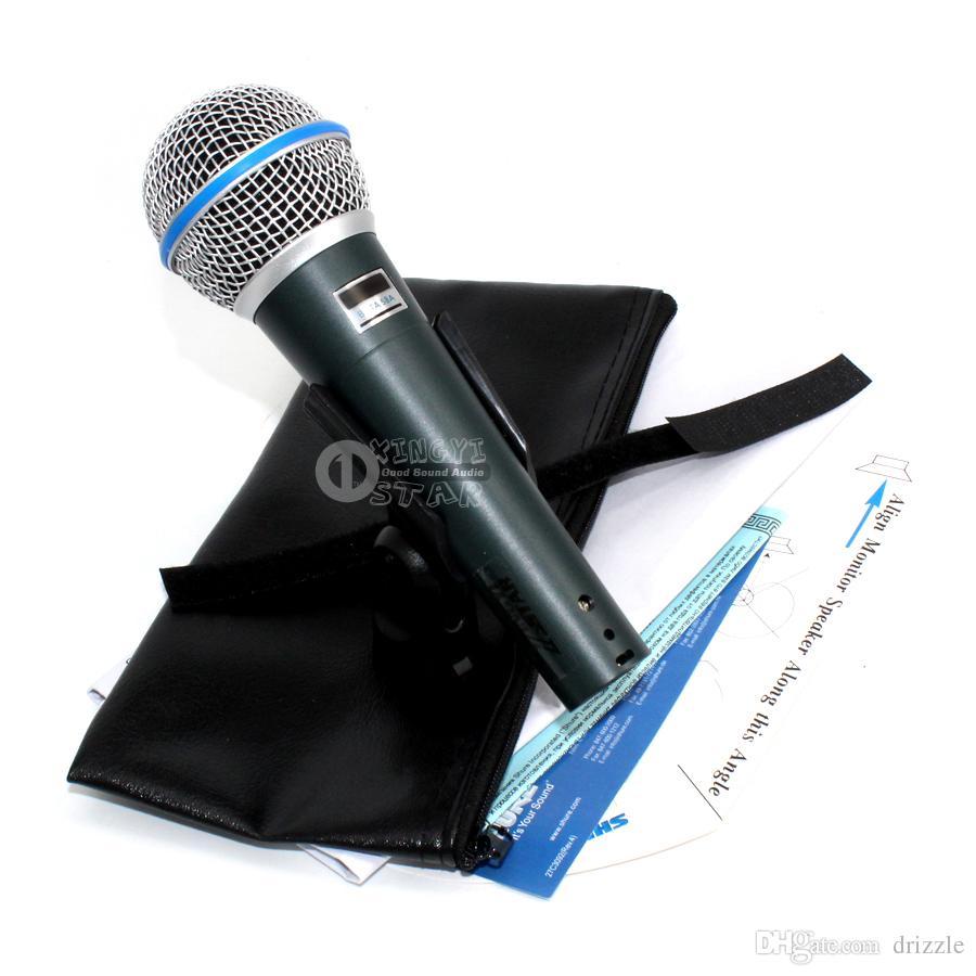 슈퍼 카디오이드 다이나믹 보컬 유선 마이크 전문 마이크로폰 마이크 베타 58A 노래 가라오케 믹서 오디오 레코드 비디오 PC Microfone