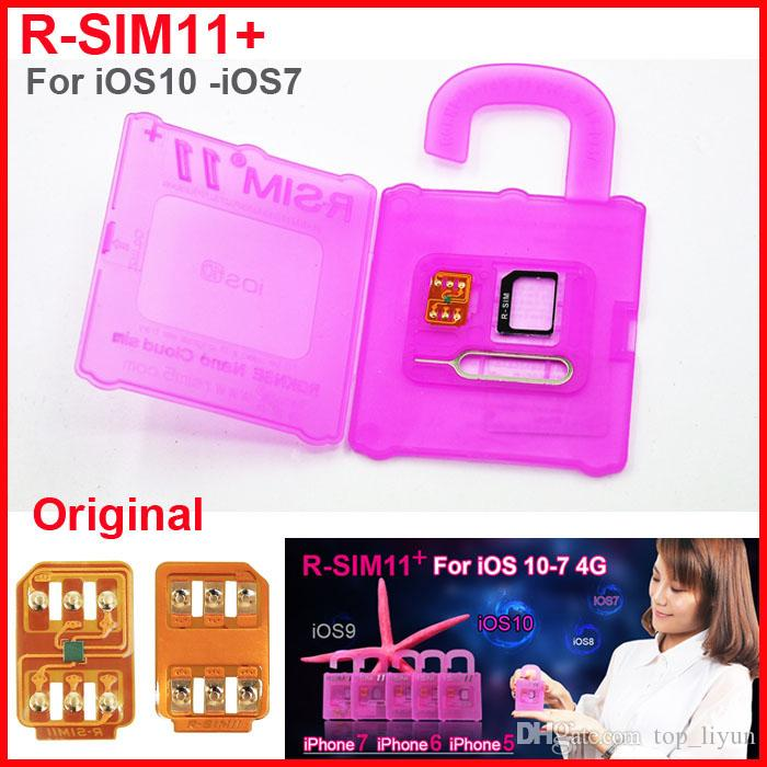 Newest Unlock card R-SIM11+ R SIM 11 plug Original RSIM11+ Unlocking for iPhone 5 6 7 6plus iOS7-10.x CDMA GSM WCDMA SB AU SPRINT 3G LTE 4G