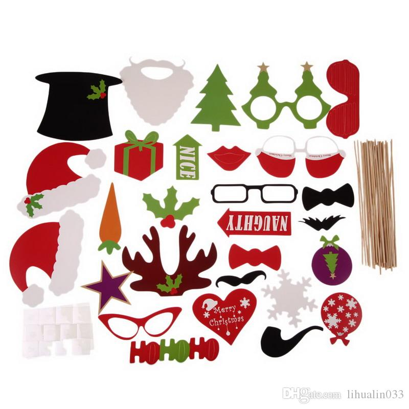 Wholesale Christmas Photo Booth Props Photobooth Funny Christmas Decoration Christmas Accessories Merry Xmas