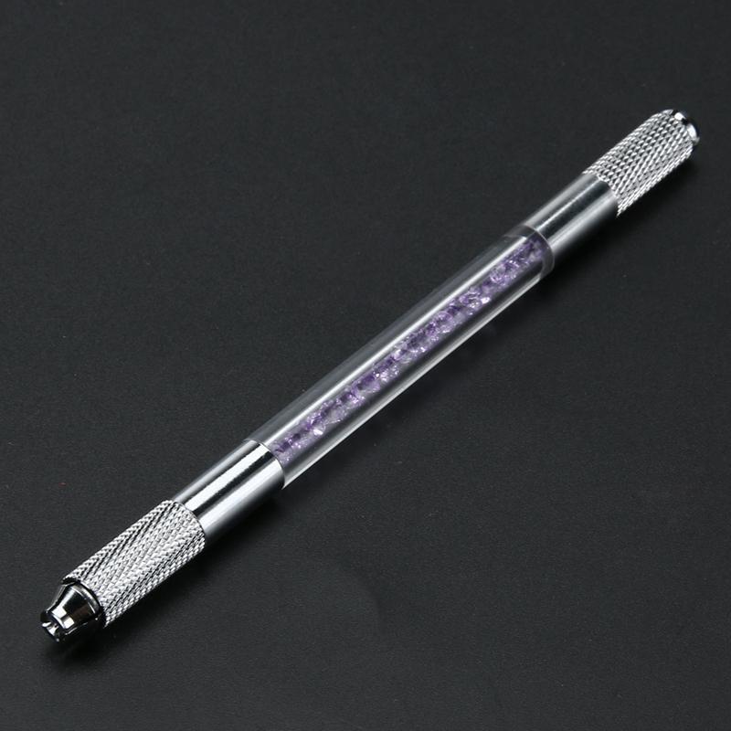 es Tattooing Pen Microblading Pen Máquina de Tatuaje Maquillaje Permanente Tatuaje de Cejas Pluma Manual Hoja de Aguja Ranura