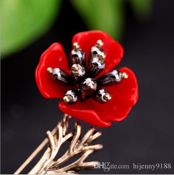 Hot Lapel Flower Man Woman Camellia Handmade Boutonniere Stick Brooch Pin Men's Accessories in Multicolor AOP--694