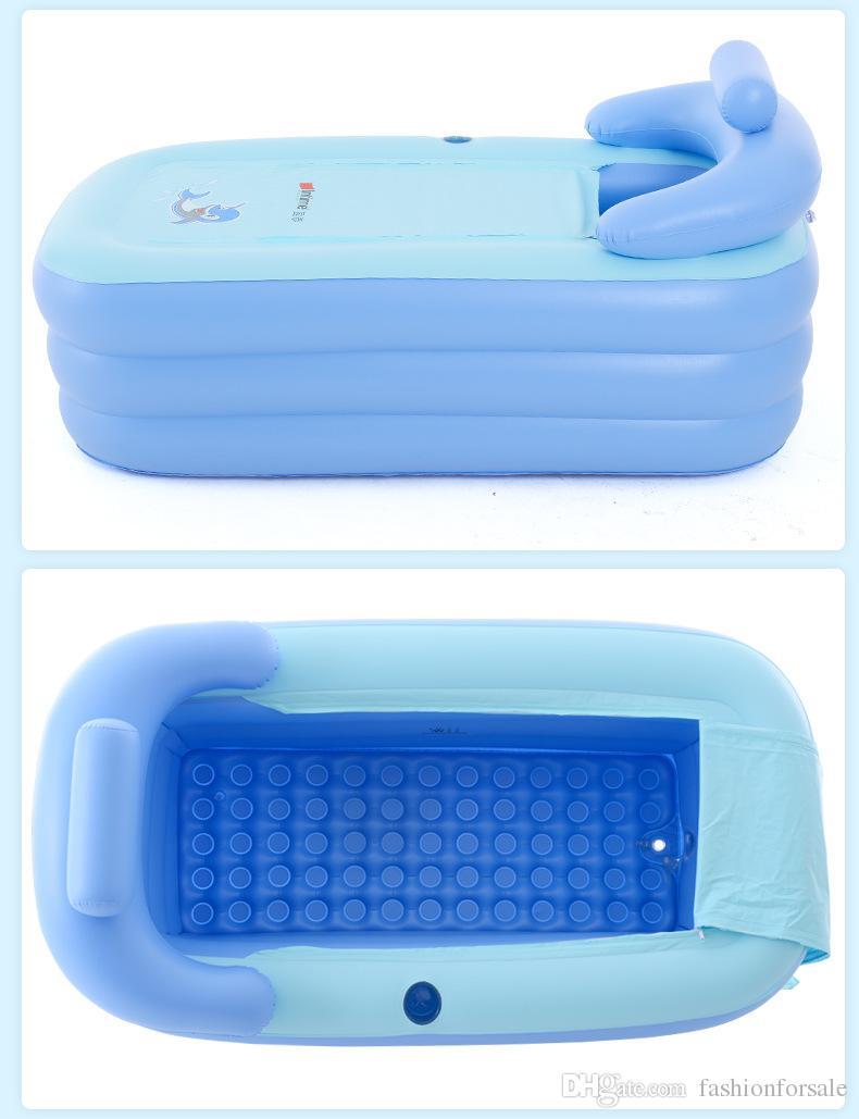 Portable Inflatable Bathtub Adult Thicken PVC SPA Folding Portable ...