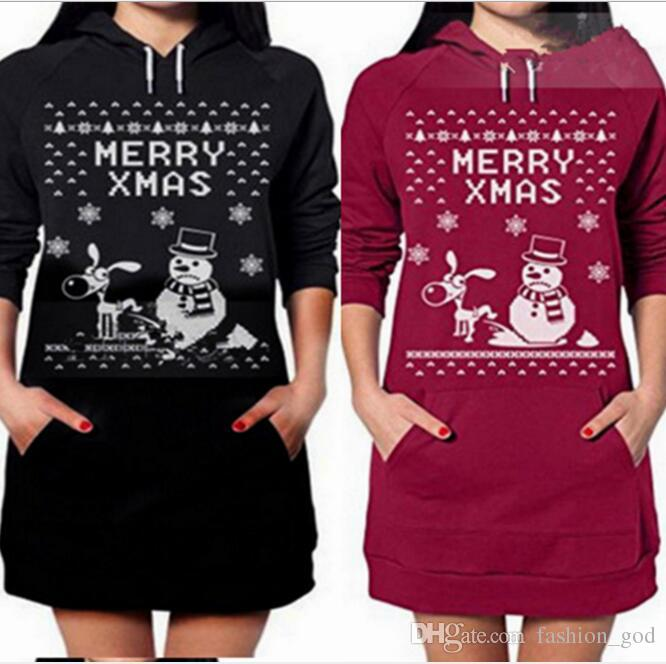 christmas hoodie winter jackets snow man coat women fashion pullover casual long sleeve sweatshirt outerwear hoodies jumper outwear b3090 kids leather - Christmas Jackets