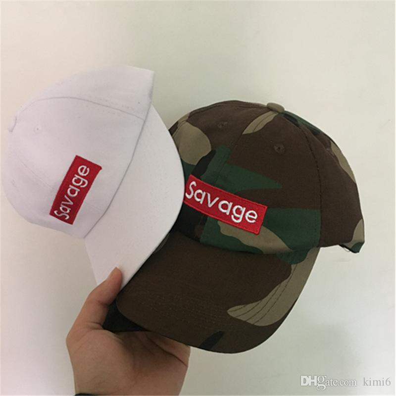 7f275bb83 New Design Savage Box Logo Dad Hat Kanye West LIT palace Hat drake ovo  Embroidered Baseball Cap Curved Bill 100% Cotton casquette gorras
