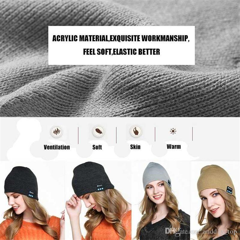auriculares inalámbricos Bluetooth V4.1 estéreo sombrero Beanie Cap Música Bluetooth micrófono del altavoz de manos libres para todo el país: Música Sombrero