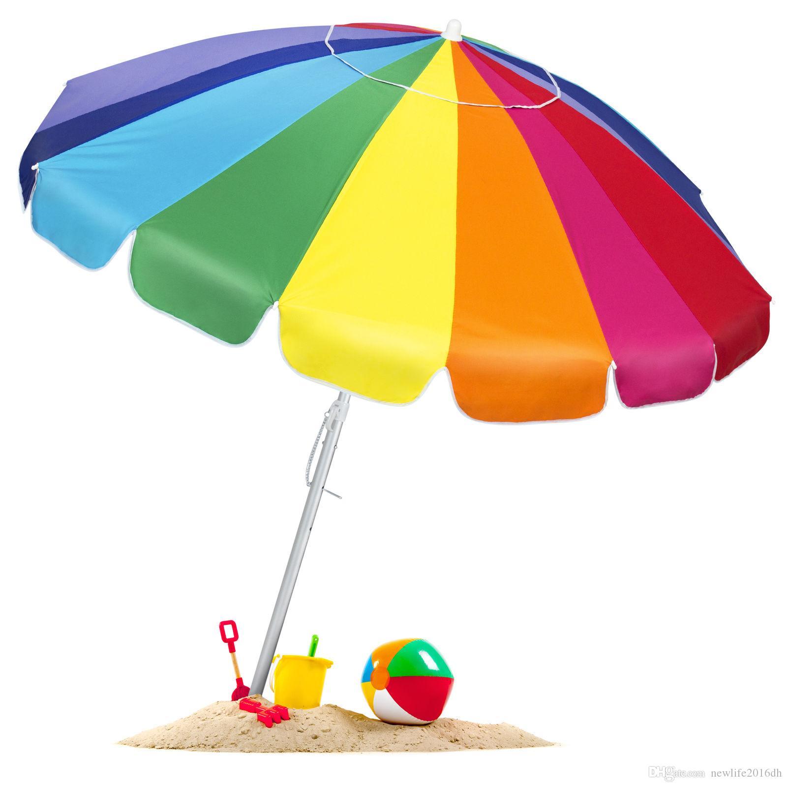 c0b59fc2b7690 2019 BCP Tilt Rainbow Beach Umbrella W/ Carrying Case & Anchor Multiple  Sizes From Newlife2016dh, $35.54 | DHgate.Com