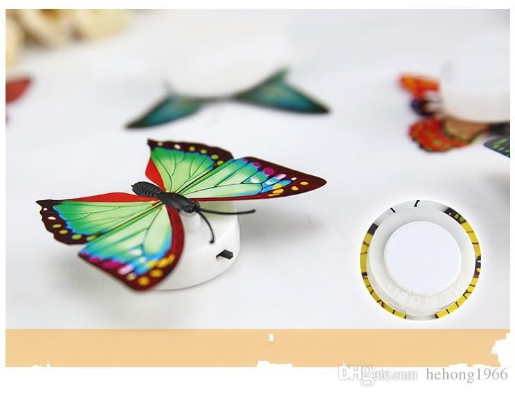 Papillon Petite Lampe De Nuit Décorative Applique Décorer Luminescence Scalewing Peut Coller Créative Nouveauté Vente Chaude 1 15 ms R