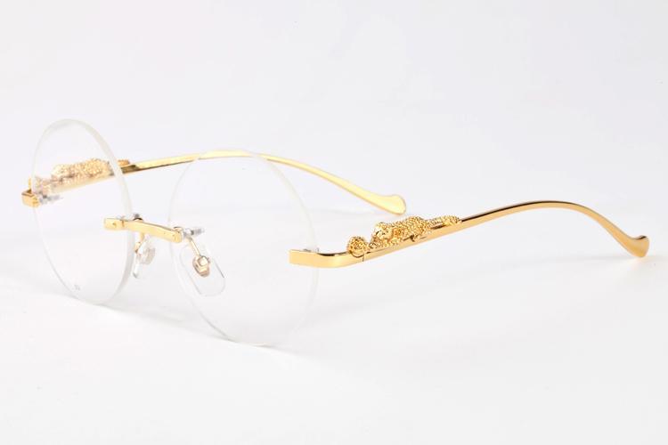 5a7094694c Compre 2017 Lunettes Hombres Sin Montura De Oro Marco De Metal Gafas De  Cuerno De Búfalo De Las Mujeres Círculo Cuadrado Redondo Gafas Gafas De  Ángulo A ...