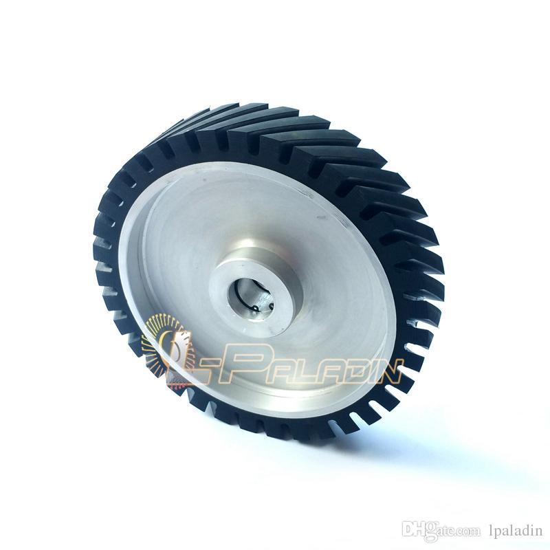 250*50mm Serrated Belt Grinder Rubber Contact Wheel for Sanding ...