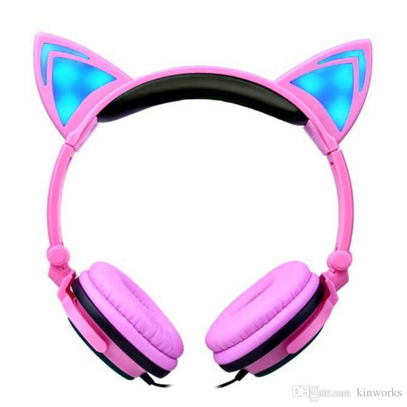 Kleine Kopfhörer Faltbare Katze Ohr Kopfhörer Verdrahtete Spiel ...
