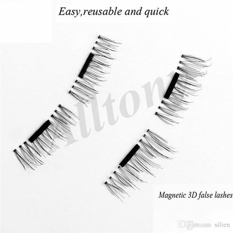 Toptan-Manyetik Yanlış Eyelashes Uzatma 0.2mm 3D Manyetik Kirpik Makyaj Yumuşak Saç Manyetik Sahte Kirpikler perakende ücretsiz kargo ile