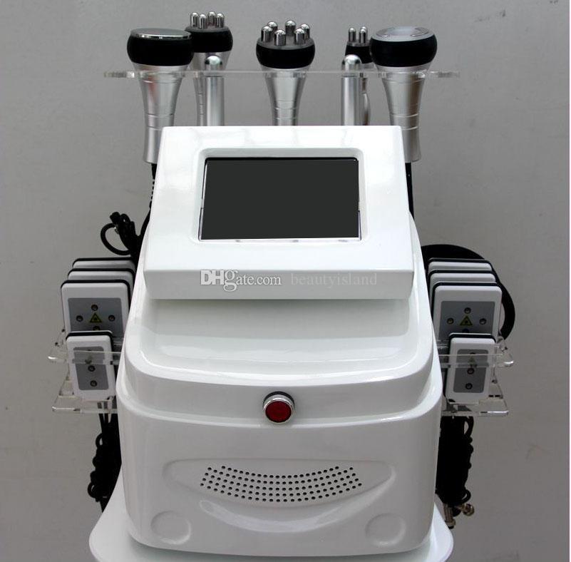 6 IN 1 Multifunction Lipolaser Slimming Machine 650nm Lipo Laser 40K Ultrasonic Cavitation RF Radio Frequency Vacuum Body Slimming Machine