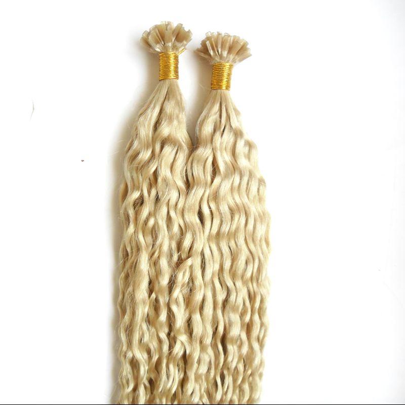 Кератиновые наращенные волосы для человеческих волос 100 кудрявые кератиновые волосы с наращенными кончиками наращенных волос 100 г предварительно скрепленные человеческие волосы