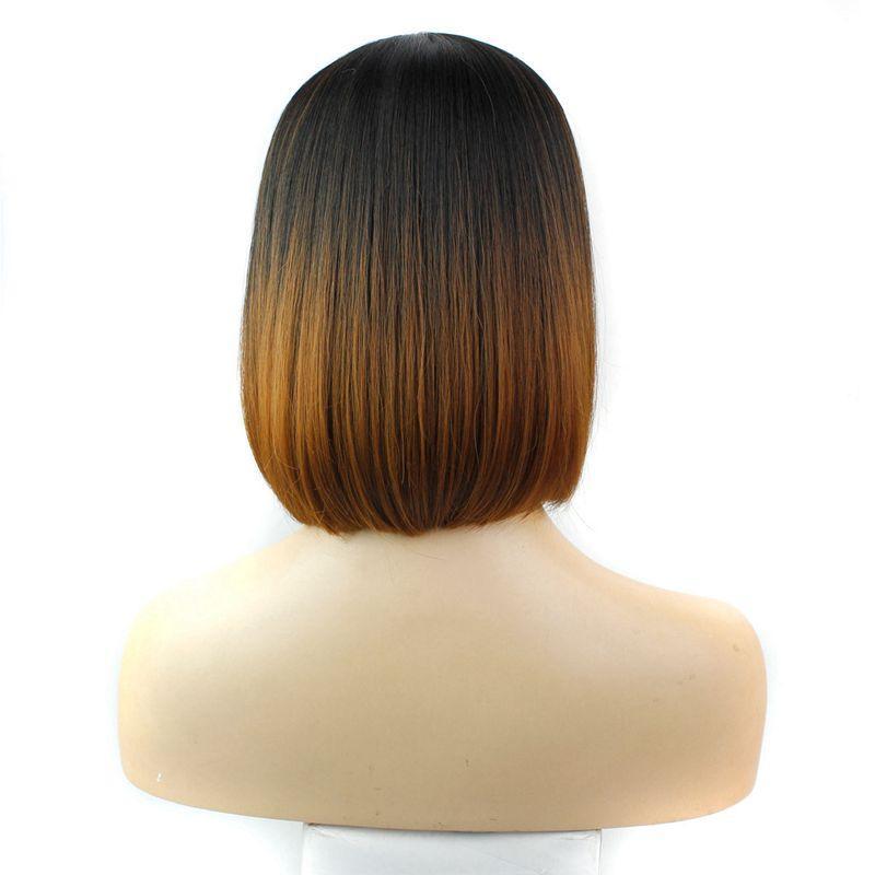 Ombre synthetische Haar-Perücken mit vollem Knall 12inch hitzebeständige schwarze synthetische kurze Bob-Perücke populäre Art