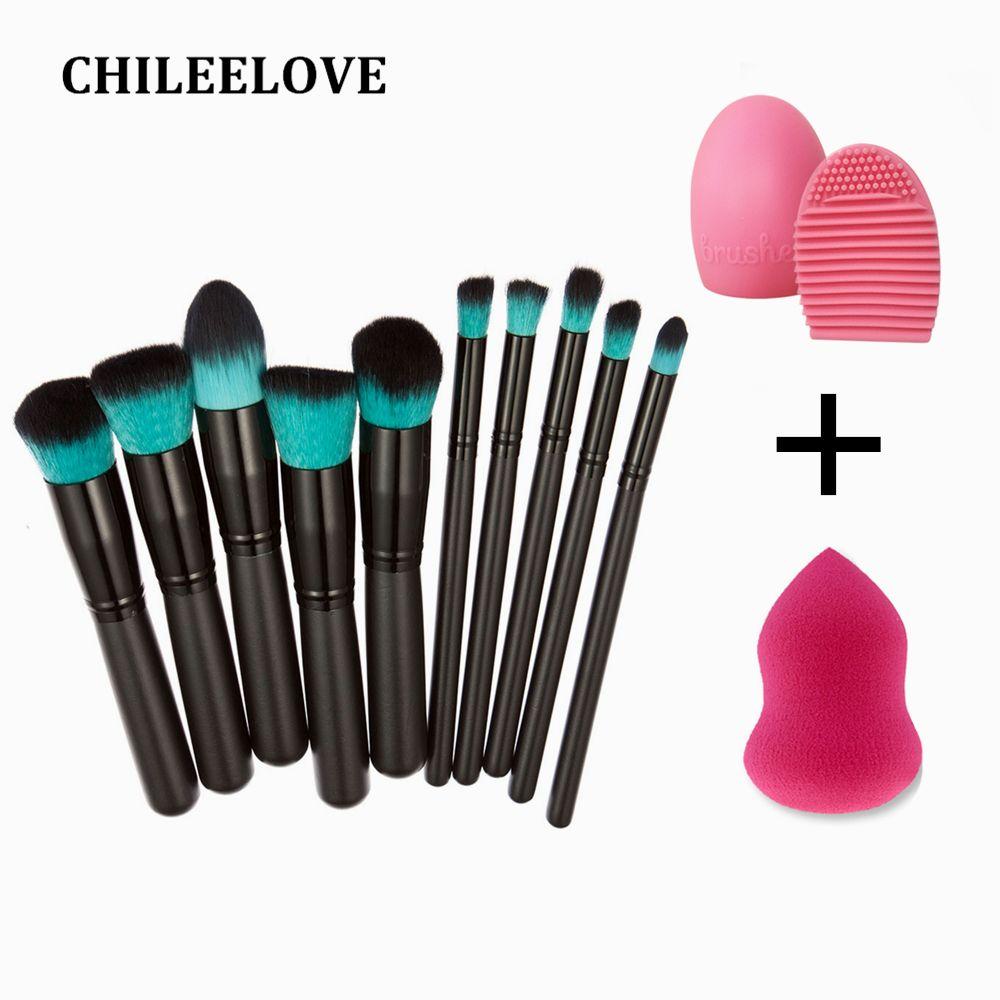 Chileelove Set Base Cosmetics Makeover Mini Makeup Brushes Kit