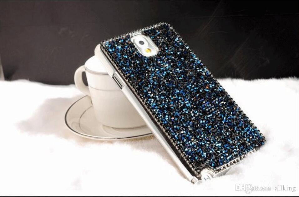 Premium bling Luxury diamond rhinestone glitter back cover phone cases For iphone 7 5 6 6s plus case Package