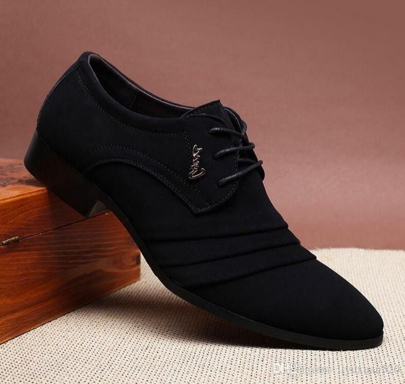 1d59716807d2c Men Oxford Shoes 2017 Sping Autumn New Suede Leather Men Flat Oxford Casual  Shoes Men Flats Loafers Zapatos Hombre Wedding Shoes Designer Shoes High  Heel ...