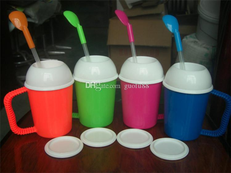 Innovative Item Mini Slushy Mug Western Style DIY 6oz Capacity Salad Cup Milk Shake Mugs Possess FDA LFGB BPA MSDS Certificate