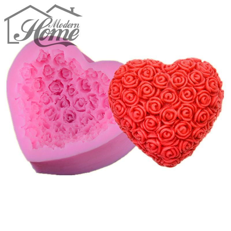 Acheter Vente En Gros Sweet Heart Rose Design Moule De Gateau En