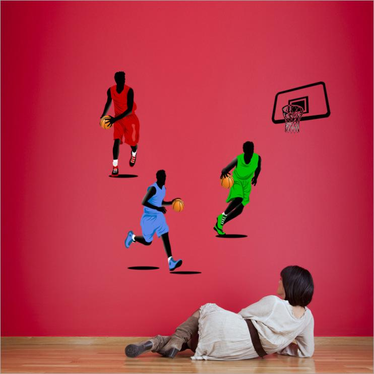 gym decorative basketball wall stickers bedroom walls environmental material sports wall sticker environmental background