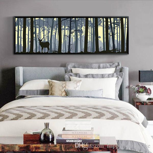 2018 Large Wall Art Elk Canvas Paintings Scenery Paintings Animal Art Print  For Bedroom Home Wall Decor Modern Style Design From Happyfamilyalike, ...