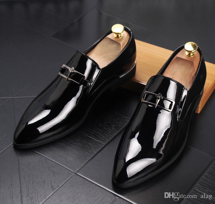 2019 Scarpe eleganti da uomo di lusso da uomo in pelle casual oxford di guida scarpe da uomo mocassini mocassini scarpe italiane gli uomini appartamenti 38-45