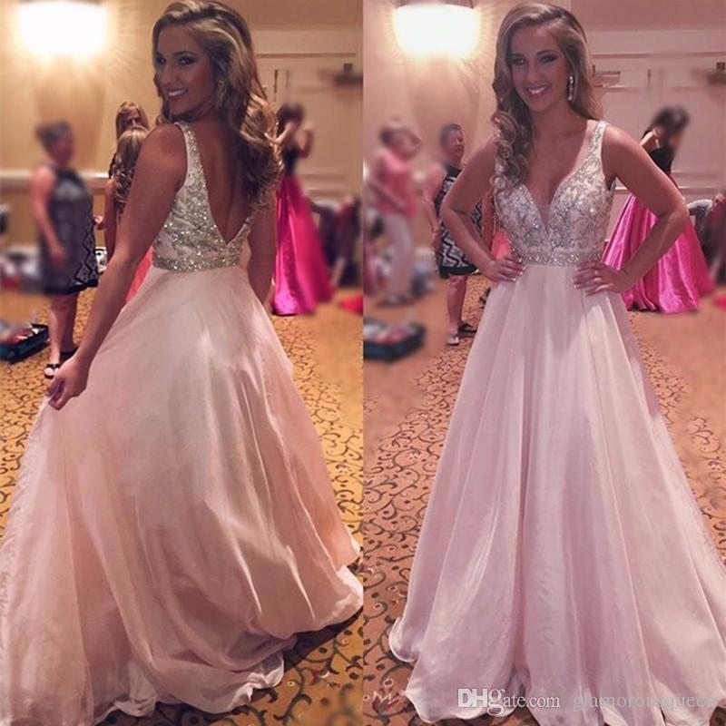Compre Vestido Largo Longo De Color Rosa De Baile De Fin De Curso ...