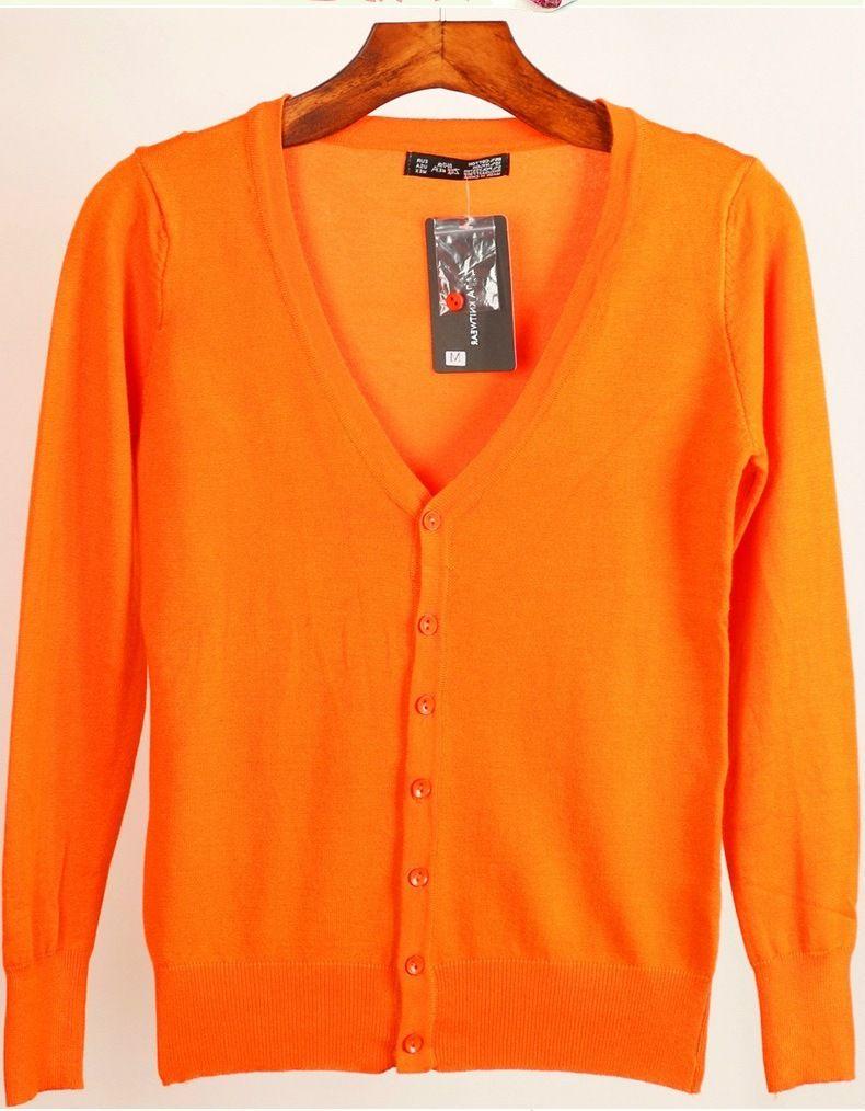 22987f154b58 2019 Basic Soft Knit Cardigan Women Color Button Down Long Sleeve ...