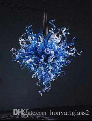 100% Mouth Blown Borosilicate Wholesale Heart Design Hanging Pendant Light Hand Blown Glass Chandelier Lighting