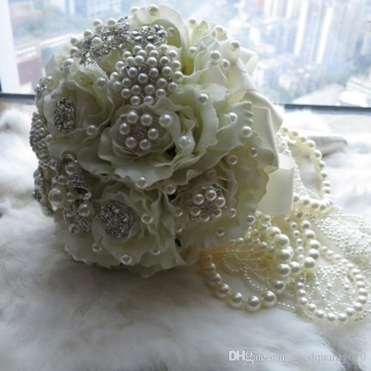 Type-3 1 Spool Flower Shape ABS Pearl Garland Cake Banding Trim Ribbon For Sewing Wedding Party Centerpiece Decoration