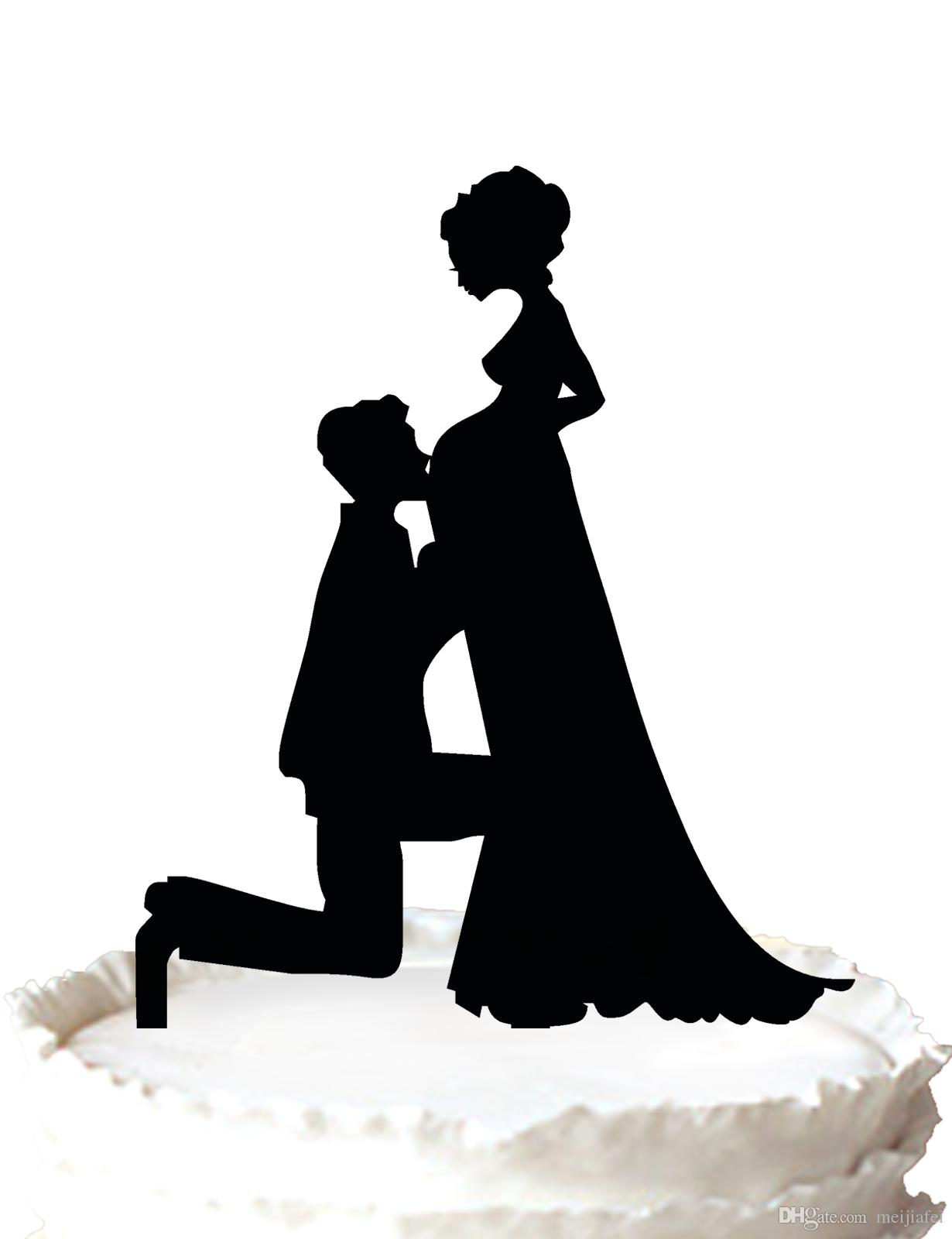 Funny Pregnant Wedding Cake Toppers