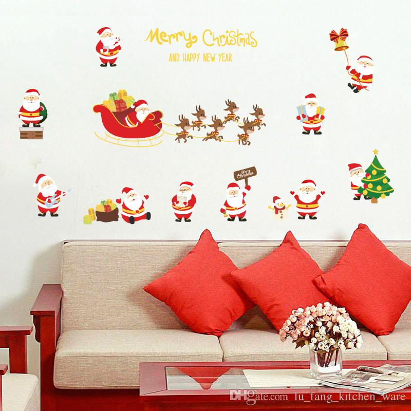 wall stickers christmas decoration for kids bedroom creative diy
