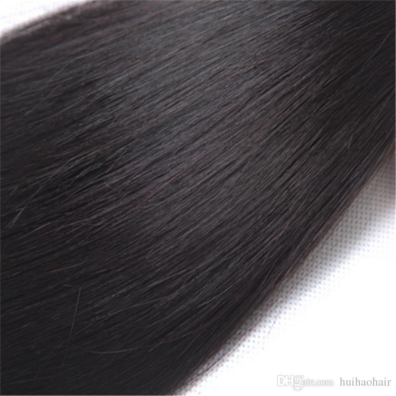 Brezilyalı Virgin İnsan Saç Paketler İşlenmemiş Brazillian Peru Hint Malezya Kamboçyalı Düz Saç Paketler Doğal Siyah örgüleri