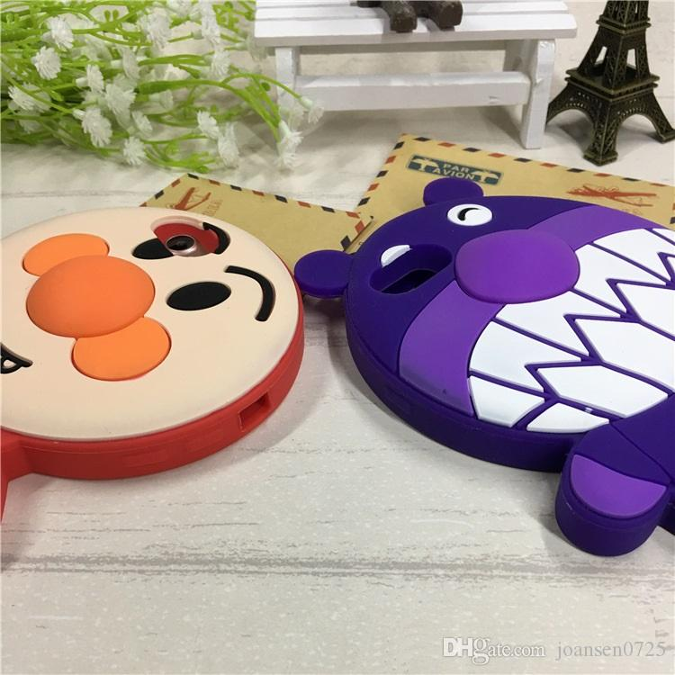 3D Cartoon Bread Bacteria Boy cell phone Cases for iPhone 7 6 6S Plus hot sale Silicone Cute Rubber Soft Back Cover Case Lovely Skin