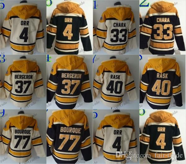 5b8fdbbb6 ... Cream Hoodie Boston Bruins 4 Bobby Orr 33 Zdeno Chara 37 Patrice  Bergeron Cheap Hockey Hooded Stitched Old ...