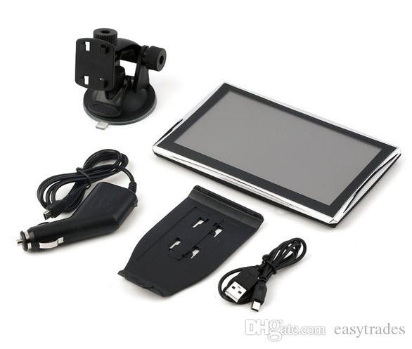 ByJo 7 polegada X7 Atualize HD Car Navegação GPS tela Capacitiva FM 8 GB Veículo Caminhão GPS Navegador de carro Europa Nav nav mapa da vida