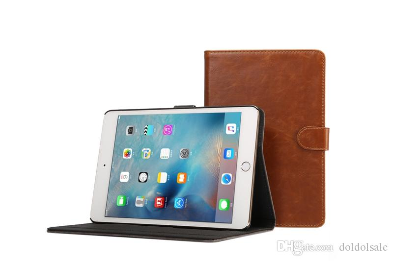 Crazy Horse PU Leather Cover with Card Slots for Apple iPad Mini 4 Mini4 7.9 Tablet Case Smart Cover With Auto Sleep Wake Function