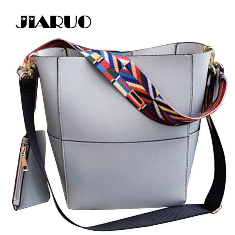 1b7a0d17cdc4 Wholesale Luxury Brand Designer Bucket Beg Women Leather Handbag Large  Capacity Wide Strap Shoulder Bag Crossbody Bag Messenger Bag Shop Ladies  Bags ...